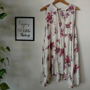 Free People Swing dress Pink Floral cut-out M